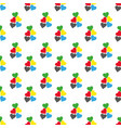 seamless pattern with hearts fresh colors on a vector image vector image
