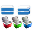 set ice box container vector image