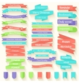 Set of colored ribbons sticker background concept vector image vector image