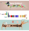 set with cute cartoon dachshunds vector image vector image