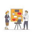 teamwork agenda in office concept business vector image vector image
