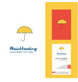 umbrella creative logo and business card vertical vector image
