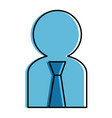 user silhouette with tie avatar vector image vector image