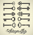 Vintage Key Silhouettes vector image