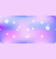 vivid background with snowflakes soft purple color vector image vector image