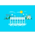 water dam in flat style vector image