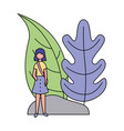 woman natural plant vector image