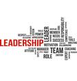 word cloud leadership vector image