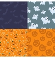 set of seamless patterns for halloween vector image
