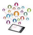 Social Media Abstract Communication vector image