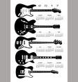 2017 Guitars calendar vector image vector image