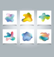 abstract cover set colorful gradient liquid vector image vector image