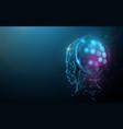 ai artificial intelligence digital brain vector image vector image