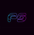 alphabet letter combination fs f s logo company vector image vector image