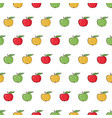 apples are red yellow green vector image
