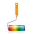art creative paint roller brush concept vector image vector image