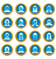 avatars set icons blue circle set vector image vector image