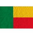 Benin paper flag vector image vector image