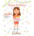 birthday cake concept flat vector image