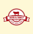 black angus logo design template cow farm logo vector image