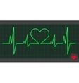 Cardiogram heart love vector image