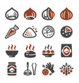 chestnut icon set vector image vector image