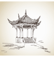 chinese pavilion vector image vector image