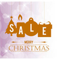 chrismtas sale banner with pattern background vector image vector image