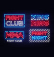 Collection fight club neon signs king