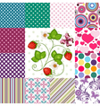 Collection seamless colorful patterns vector image vector image