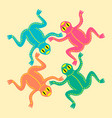 colored frogs based on african ethnic motifs vector image vector image