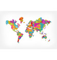 colorful triangle world map concept vector image vector image
