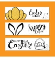Colourful banners collection for Easter with vector image vector image