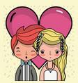 couple lover merried celebration design vector image