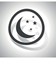Curved night sign icon vector image vector image