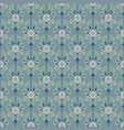 damask dusty blue floral seamless pattern vector image vector image
