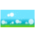 Dandelion With Seeds Flying Away vector image