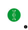 DNA simple science logo with metaball style vector image vector image