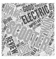 electric scooter review Word Cloud Concept vector image vector image