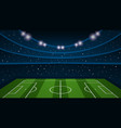 empty football field arena stadium vector image