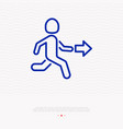 exit sign man running out thin line icon vector image