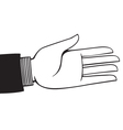 extended hand vector image vector image