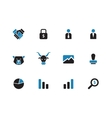 Finance duotone icons on white background vector image vector image