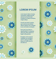 flat poster or banner template with chamomile vector image vector image
