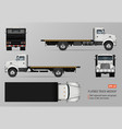 flatbed truck template vector image vector image