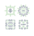 Floral Elements Design Set vector image vector image