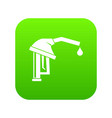 gasoline pump nozzle icon digital green vector image vector image