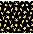Gold stars pattern on the black background vector image vector image