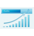 graph with growing profits vector image vector image