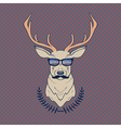 hand drawn colorful of hipster deer with mus vector image vector image